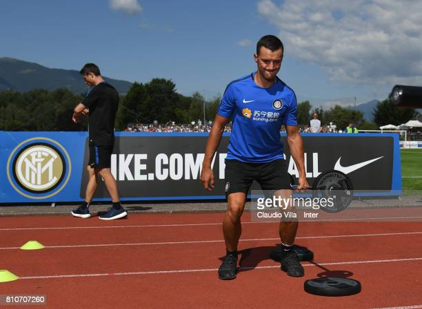 Enrico Baldini of FC Internazionale Milano in action during a FC Internazionale training session on July 8 2017 in Reischach near Bruneck Italy