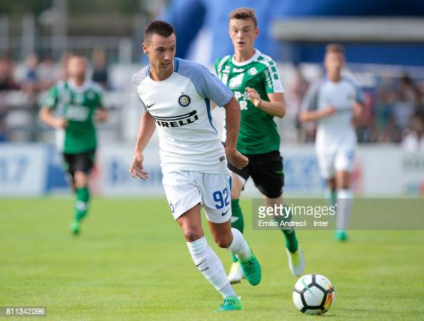 Enrico Baldini of FC Internazionale Milano in action during the Preseason Friendly match between FC Internazionale and Wattens on July 9 2017 in...