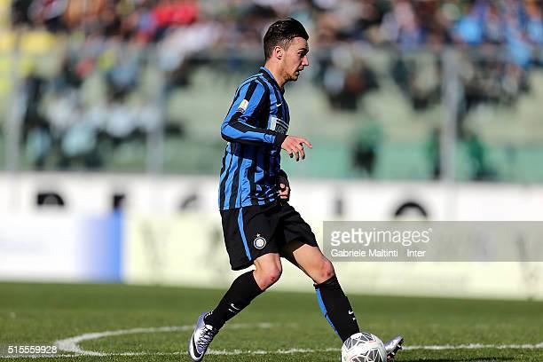 Enrico Baldini of FC Internazionale scores the opening goal during the Viareggio Juvenile Tournament match between FC Internazionale and Akademija...
