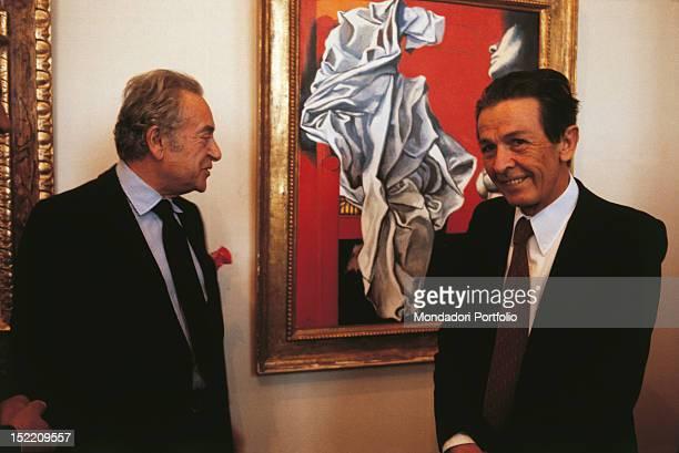 Enrico Berlinguer general secretary of the Italian Communist Party and the Sicilian painter Renato Guttuso