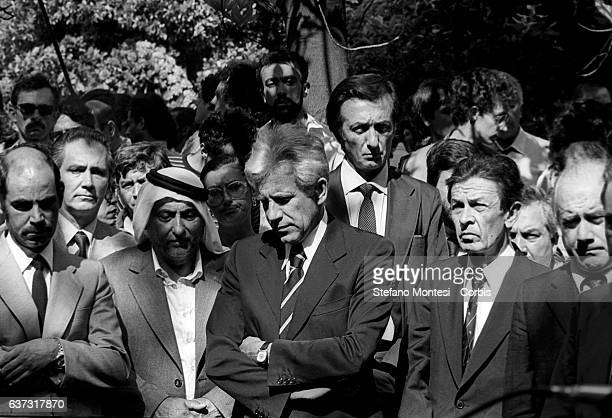 Enrico Berlinguer National Secretary of the Italian Communist Party Lucio Magri secretary of the Proletarian Unity Party for Communism behind Ugo...