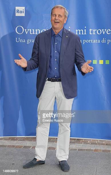 Enrico Bertolino attends the Palinsesti Rai photocall at Cavalieri Hilton Hotel on June 20 2012 in Rome Italy