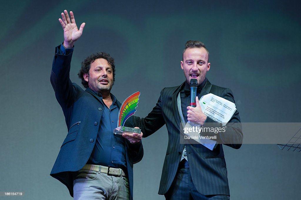 Enrico Brignano and Francesco Facchinetti attend 'Vorrei... 2013' Charity Event To Support Fondazione FFC at Teatro Sistina on October 28, 2013 in Rome, Italy.