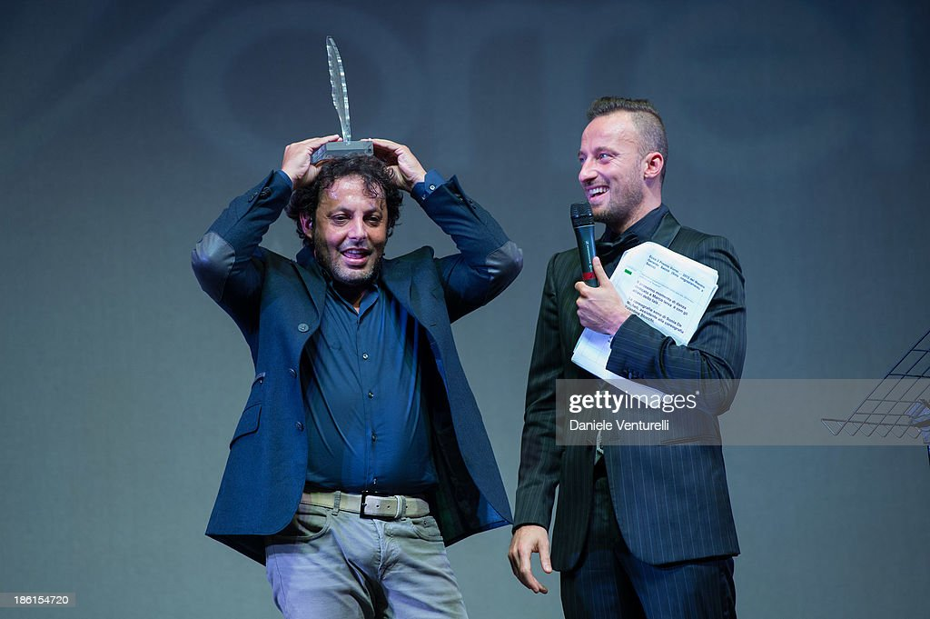 Enrico Brignano and Francesco Facchinetti attend 'Vorrei... 2013' Charity Event To Support Fondazione FFC at Teatro Sistina on October 28, 2013 in Rome, Italy.
