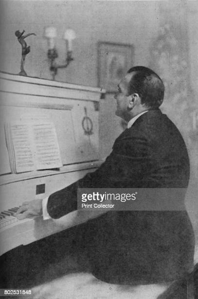Enrico Caruso Italy's Famous Tenor at the Piano' c1925 Enrico Caruso Italian tenor From Cassell's Romance of Famous Lives Volume 2 by Harold Wheeler...