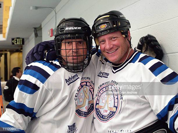 Enrico Colantoni and Bobby Hull Jr during 'Freeze The Disease' Pro/Celebrity Hockey Game to Benefit Cystic Fibrosis Research at Ice Station Valenica...