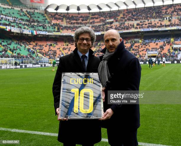 Enrico Cucchi attends the Serie A match between FC Internazionale and Empoli FC at Stadio Giuseppe Meazza on February 12 2017 in Milan Italy