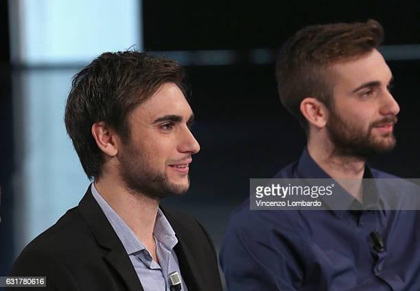 Enrico e Daniele Garozzo attend 'Che Tempo Che Fa' tv show on January 15 2017 in Milan Italy