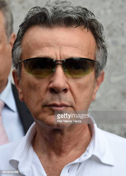 Enrico Ghinazzi called Pupo attends the Paolo Limiti funeral services at the church of Santa Maria Goretti on June 28 2017 in Milan Italy Paolo...