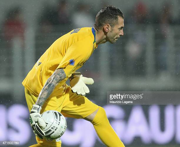 Enrico Guarna of Bari during the Serie B match between Carpi FC and FC Bari at Stadio Sandro Cabassi on April 28 2015 in Carpi Italy