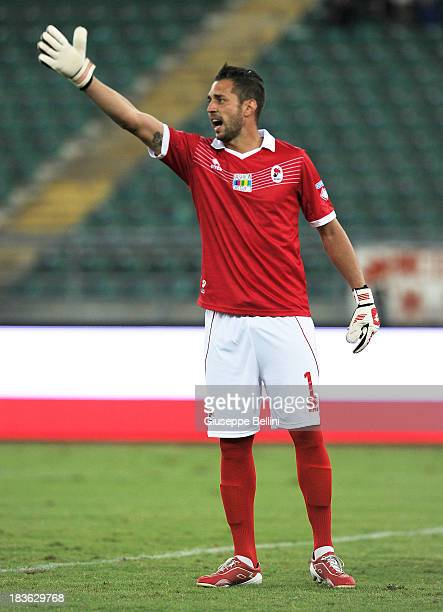 Enrico Guarna of Bari in action during the Serie B match between AS Bari and US Citta di Palermo at Stadio San Nicola on September 24 2013 in Bari...