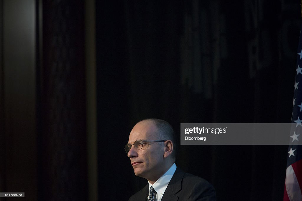 <a gi-track='captionPersonalityLinkClicked' href=/galleries/search?phrase=Enrico+Letta&family=editorial&specificpeople=2915592 ng-click='$event.stopPropagation()'>Enrico Letta</a>, Italy's prime minister, delivers a speech at the New York Stock Exchange (NYSE) in New York, U.S., on Wednesday, Sept. 25, 2013. Italian consumer confidence increased more than economists forecast in September to the highest in two years amid optimism that the economy is emerging from recession. Photographer: Scott Eells/Bloomberg via Getty Images