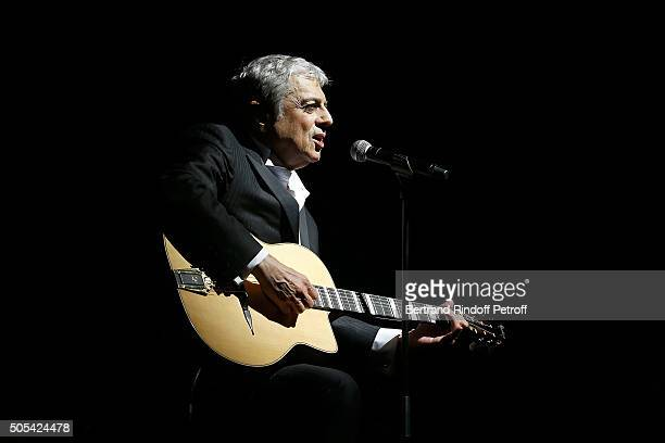 Enrico Macias Performs at L'Olympia on January 16 2016 in Paris France