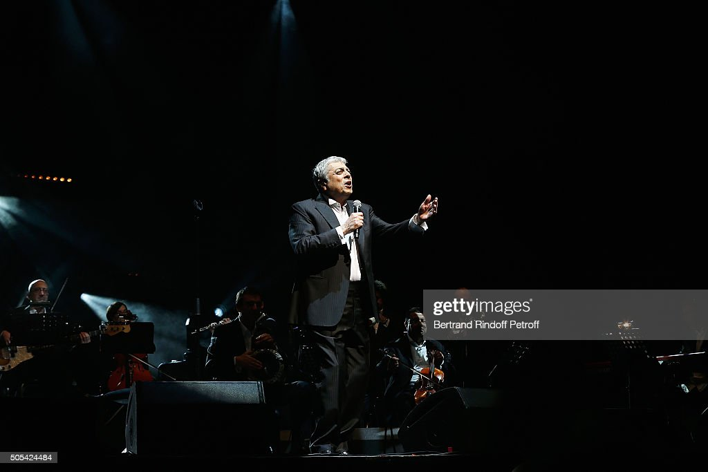 <a gi-track='captionPersonalityLinkClicked' href=/galleries/search?phrase=Enrico+Macias&family=editorial&specificpeople=2057443 ng-click='$event.stopPropagation()'>Enrico Macias</a> Performs at L'Olympia on January 16, 2016 in Paris, France.
