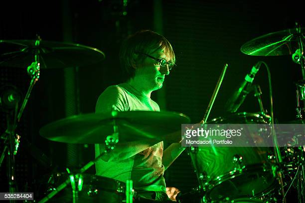 Enrico Matta drummer of the alternative rock band Subsonica performing at the Fabrique Milan 24th February 2016
