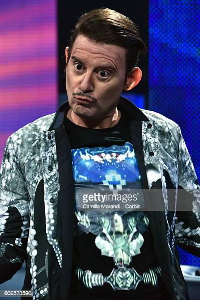Enrico Papi as Francesco Rovazzi attends 'Tale e Quale Show on September 16 2016 in Rome Italy