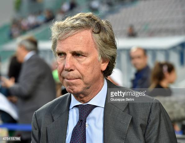 Enrico Preziosi President of Genoa before the Serie A match between US Sassuolo Calcio and Genoa CFC at Mapei Stadium on May 31 2015 in Reggio...