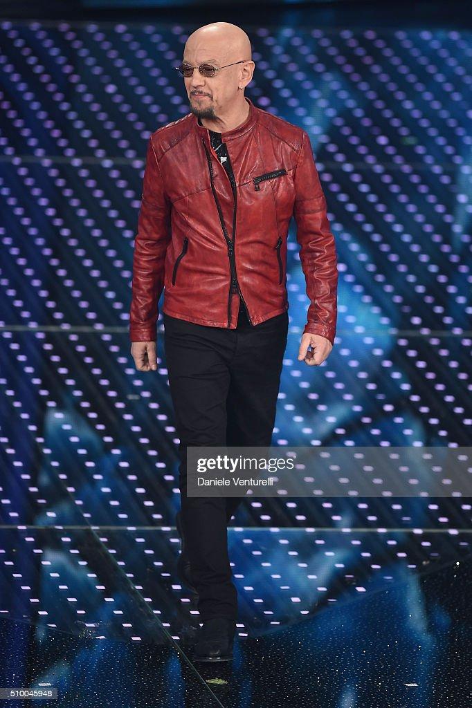 Enrico Ruggeri attends the closing night of 66th Festival di Sanremo 2016 at Teatro Ariston on February 13, 2016 in Sanremo, Italy.