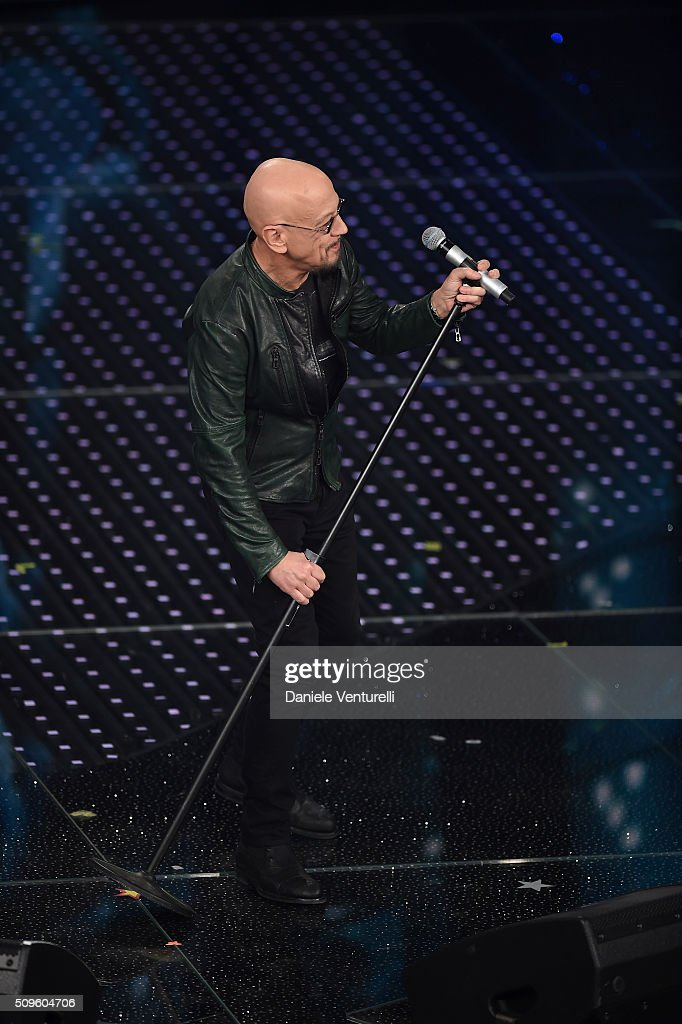 Enrico Ruggeri attends the third night of the 66th Festival di Sanremo 2016 at Teatro Ariston on February 11, 2016 in Sanremo, Italy.