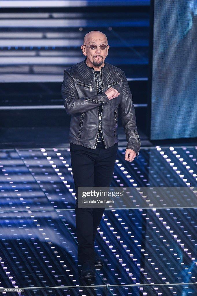 Enrico Ruggieri attends the fourth night of the 66th Festival di Sanremo 2016 at Teatro Ariston on February 12, 2016 in Sanremo, Italy.