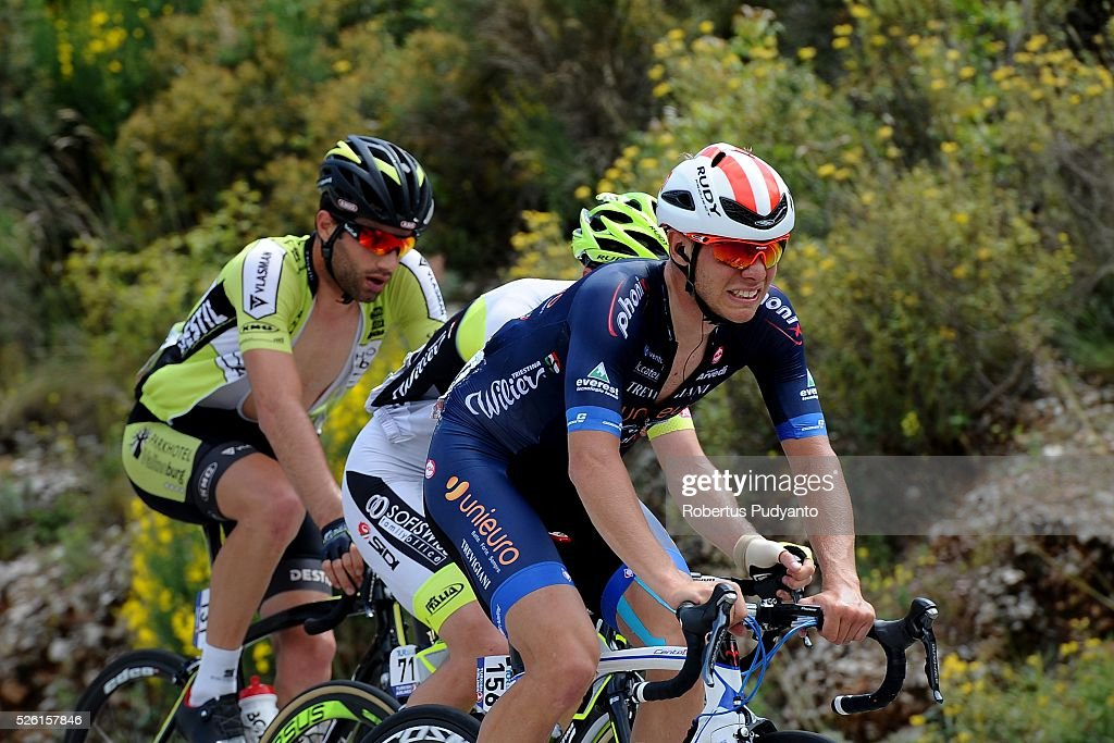 Enrico Salvador of Unieuro Wilier (R) competes during Stage 6 of the 2016 Tour of Turkey, Kumluca to Elmali (117 km) on April 24, 2016 in Kumluca, Turkey.