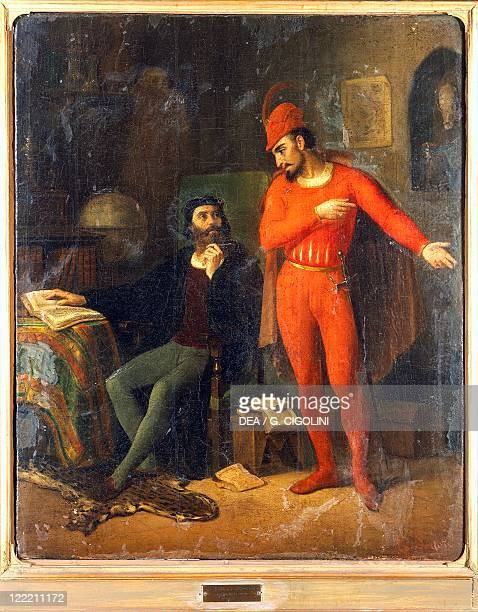 Enrico Sartori Faust and Mephistopheles Characters from Faust tragic play by Johann Wolfgang von Goethe