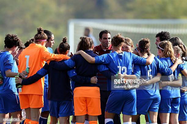 Enrico Sbardella manager of Italy U19 women's during the international friendly match between Italy U19 and England U19 on November 4 2015 in...