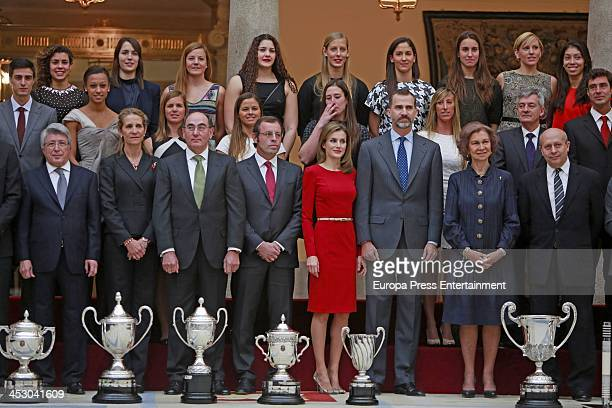 Enrique Cerezo Jose Ignacio Sanchez Galan Princess Elena of Spain Prince Felipe of Spain Princess Letizia of Spain Queen Sofia of Spain and Jose...