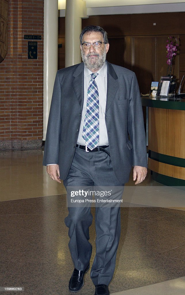 Enrique Gonzalez Macho attends the funeral chapel for actor Fernando Guillen at Tres Cantos Chapel on January 17, 2013 in Madrid, Spain.