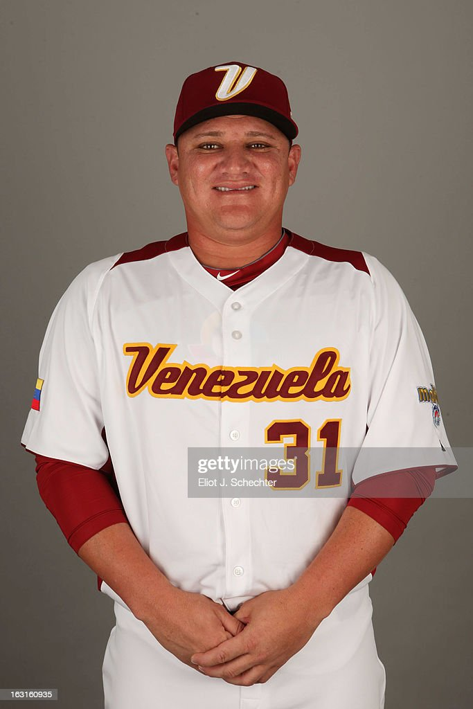 Enrique Gonzalez #31 of Team Venezuela poses for a headshot for the 2013 World Baseball Classic at Roger Dean Stadium on Monday, March 4, 2013 in Jupiter, Florida.