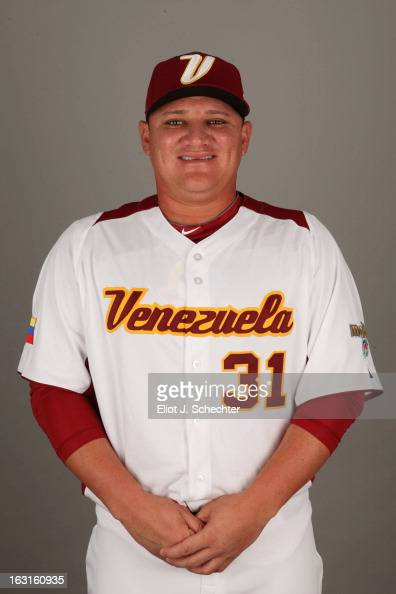 Enrique Gonzalez of Team Venezuela poses for a headshot for the 2013 World Baseball Classic at Roger Dean Stadium on Monday March 4 2013 in Jupiter...