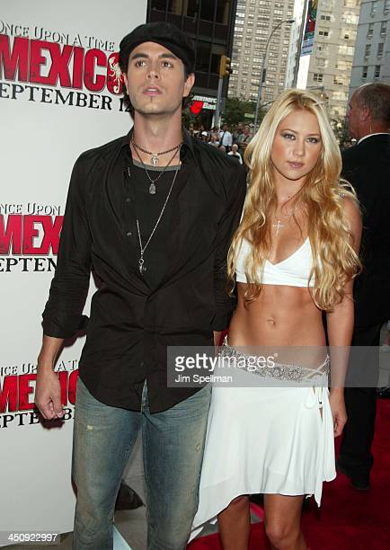Enrique Iglesias and Anna Kournikova during New York Premiere of Once Upon a Time in Mexico Outside Arrivals at Loews Lincoln Square in New York City...