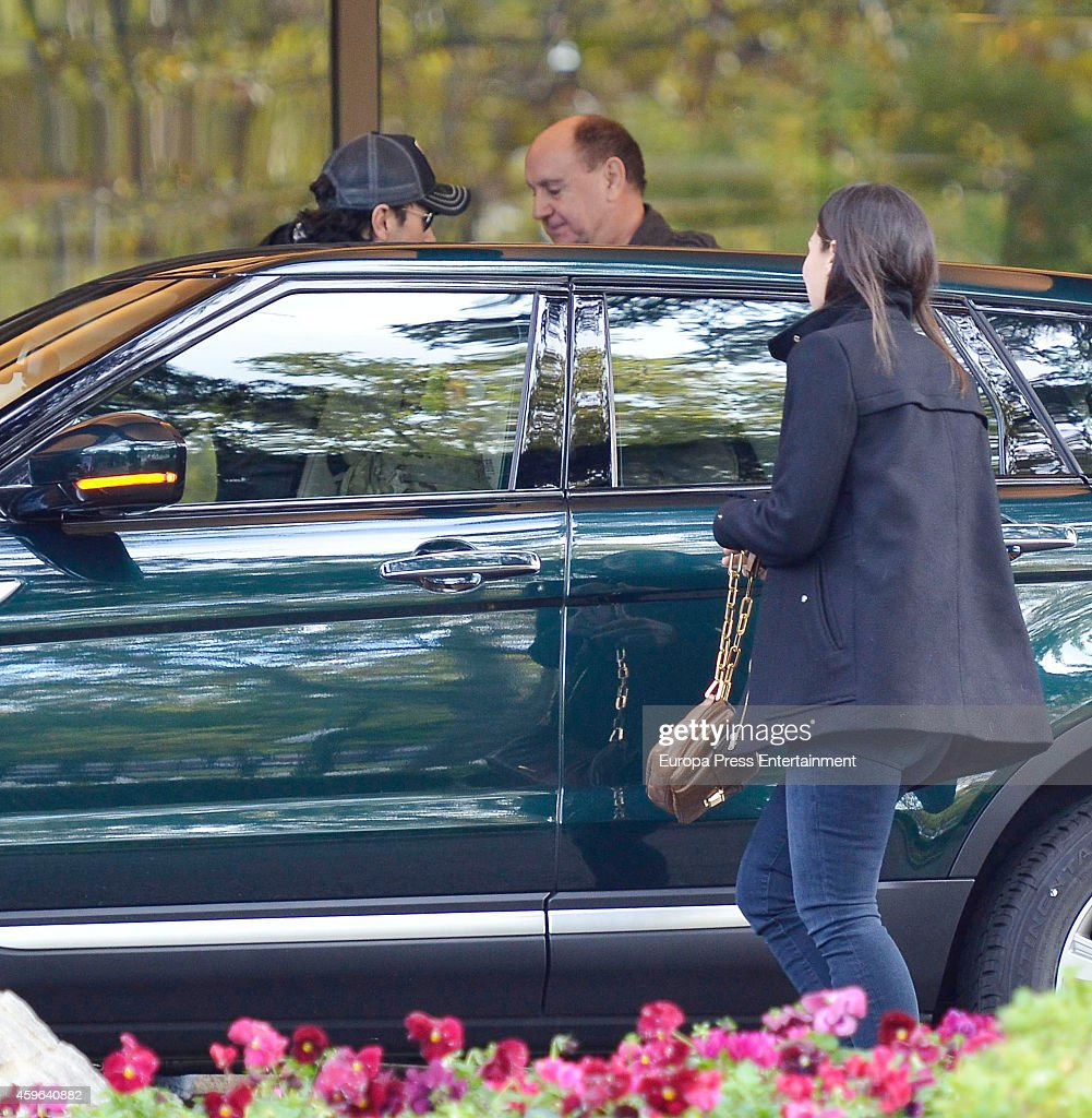 Enrique Iglesias and Tamara Falco are seen leaving hotel on November 16 2014 in Madrid Spain