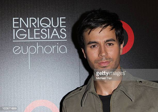 Enrique Iglesias arrives to the his new album 'Euphoria' launch party held at MyHouse nightclub on July 6 2010 in Hollywood California