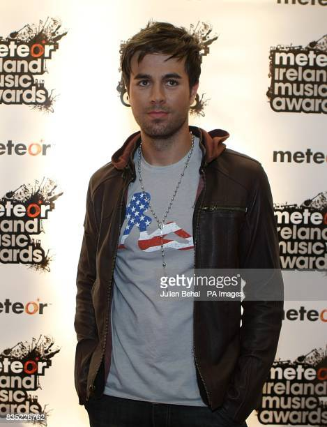 Enrique Iglesias at the Meteor Ireland Music Awards 2009 at the RDS Dublin Ireland