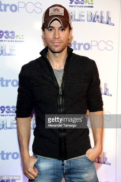 Enrique Iglesias attends 933 FLZ's Jingle Ball 2013 at the Tampa Bay Times Forum on December 18 2013 in Tampa Florida