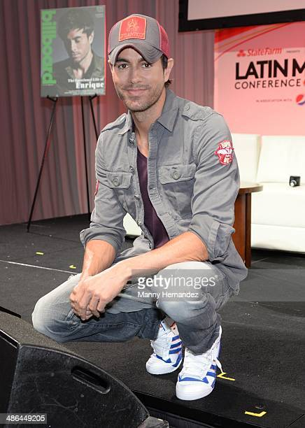 Enrique Iglesias attends Billboard Latin conference 2014 at JW Marriott Marquis on April 23 2014 in Miami Florida