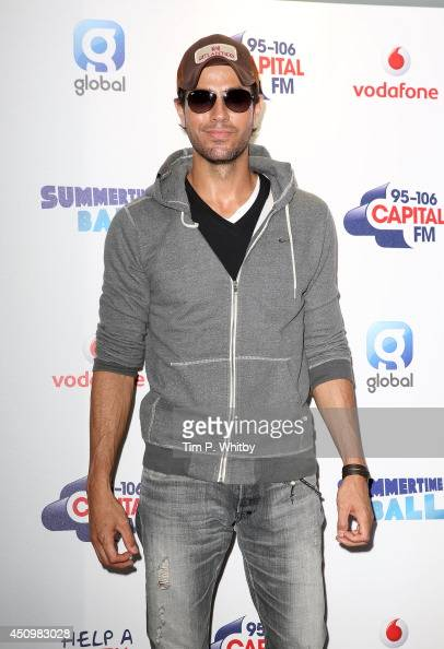 Enrique Iglesias attends the Capital Summertime Ball at Wembley Stadium on June 21 2014 in London England