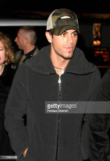 Enrique Iglesias during Christina Aguilera's AfterShow Party Following London Performance at Cafe Royal in London United Kingdom