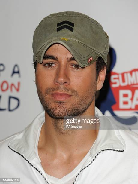 Enrique Iglesias in the press run at Capital 958 Summertime Ball with Barclaycard at the Emirates Stadium