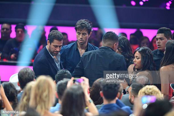 Enrique Iglesias onstage during the 2015 Billboard Latin Music Awards presented by State Farm on Telemundo at Bank United Center on April 30 2015 in...