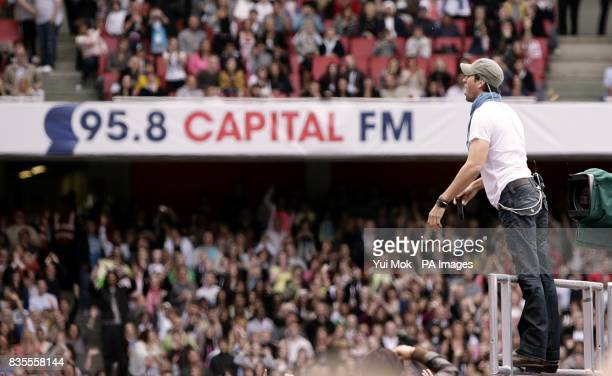 Enrique Iglesias performing during Capital 958 Summertime Ball with Barclaycard at the Emirates Stadium