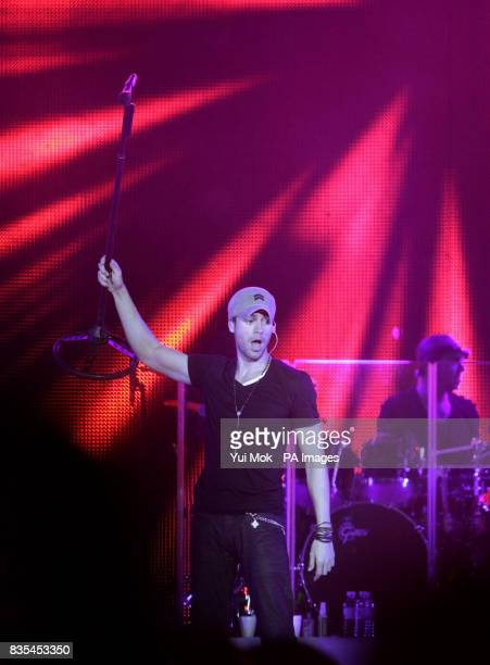 Enrique Iglesias performs at the 02 Arena in Greenwich London