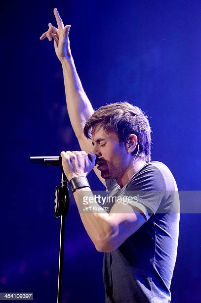 Enrique Iglesias performs at the KIISFM Jingle Ball at Staples Center on December 6 2013 in Los Angeles California