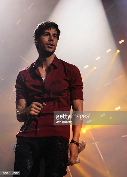 Enrique Iglesias performs at the MTV EMA's 2014 at The Hydro on November 9 2014 in Glasgow Scotland