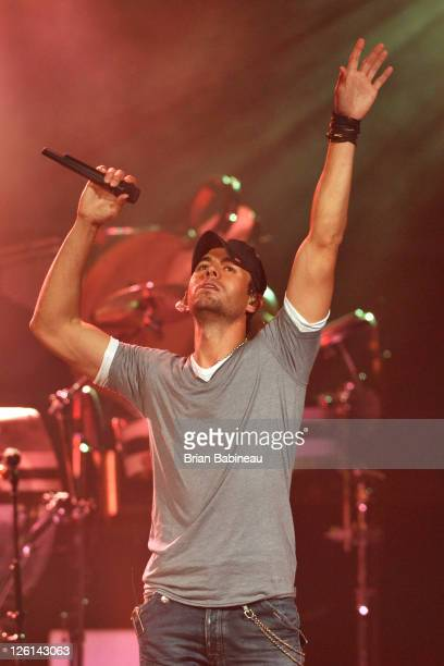 Enrique Iglesias performs during the 2011 'Euphoria' Tour opening night at TD Banknorth Garden on September 22 2011 in Boston Massachusetts