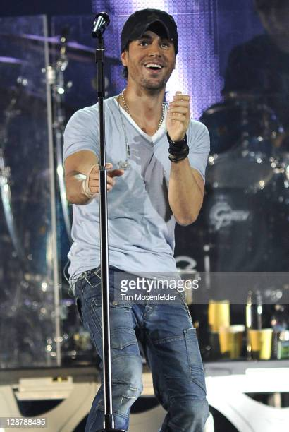 Enrique Iglesias performs in concert as part of his Euphoria Tour at HP Pavilion on October 7 2011 in San Jose California
