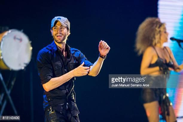Enrique Iglesias performs in concert at at the El Sardinero stadium on July 15 2017 in Santander Spain