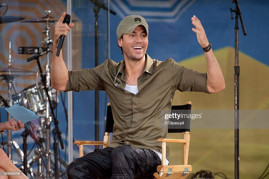 <a gi-track='captionPersonalityLinkClicked' href=/galleries/search?phrase=Enrique+Iglesias+-+Singer&family=editorial&specificpeople=202672 ng-click='$event.stopPropagation()'>Enrique Iglesias</a> performs on ABC's 'Good Morning America' at Rumsey Playfield, Central Park on August 1, 2014 in New York City.