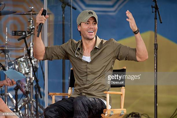 Enrique Iglesias performs on ABC's 'Good Morning America' at Rumsey Playfield Central Park on August 1 2014 in New York City